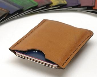 Minimalist Leather Card Sleeve