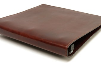 1 Inch Leather 3 Ring Binder Notebook - Mahogany - CLEARANCE -