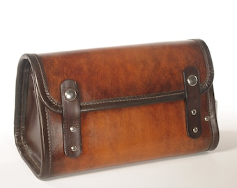 Leather Travel Kit / Dopp Kit - CLEARANCE