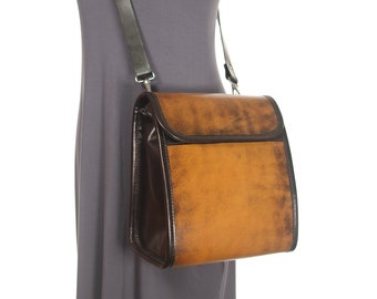 Large Leather Messenger Crossbody Purse v1