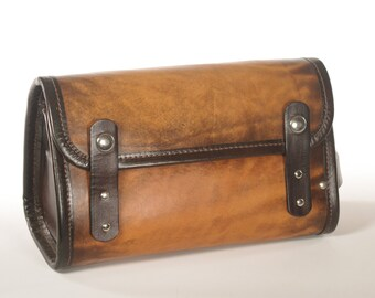 Leather Travel Kit / Dopp Kit - CLEARANCE