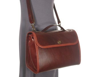 Large Leather Messenger Crossbody Purse v2