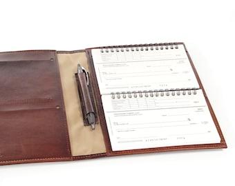 Leather 4-Book Top Stub Checkbook Cover Organizer