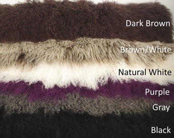 Curly Tibetan Lamb Hides, Plated Sheepskin Fur Hides, Whole, Half & Quarter Hides