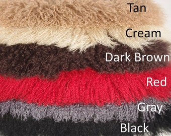 Curly Mongolian Goat Hides, Plated Goatskin Fur Hides