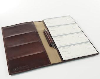 Leather 8-Book Checkbook Cover Organizer