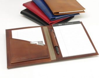 Small Leather Executive Notebook - For 5 x 8 inch Notepads