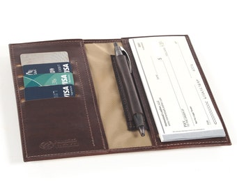 Leather Side Tear Checkbook, with Optional Card Slots