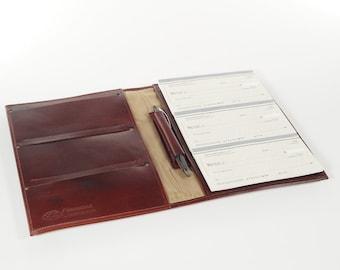 Leather 6-Book Checkbook Cover Organizer
