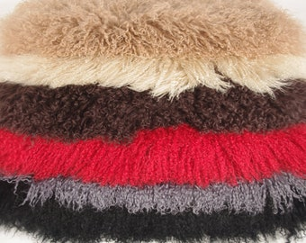 Curly Mongolian Goat Hides, Plated Goatskin Fur Hides, Whole, Half & Quarter Hides