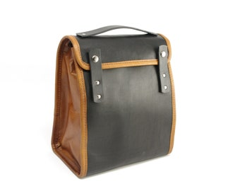Black and Tan Executive Lunch Bag (non-insulated) - CLEARANCE
