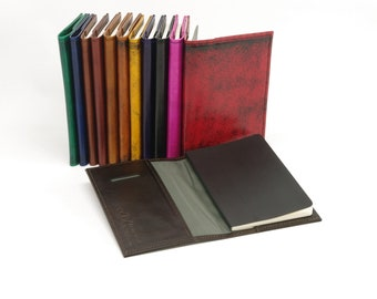 Pocket Sized Refillable Leather Journal Cover, for Moleskine Volant
