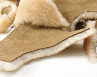 Sheepskin Shearling Remnant Scraps - Approx. 1 lb -