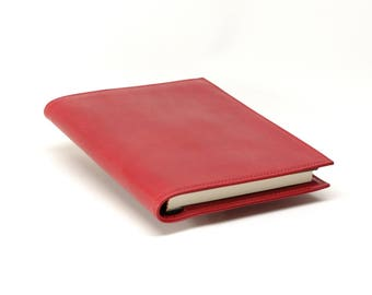Large Refillable Leather Journal Cover, for Hard Cover Book