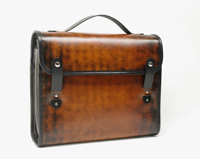 Featured listing image: Leather Messenger Style Briefcase