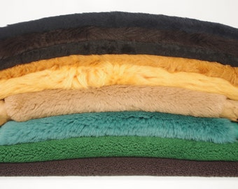 Assorted Sheepskin Shearling Hides - Green, Tan, Black, Brown, Yellow, Red, Blue