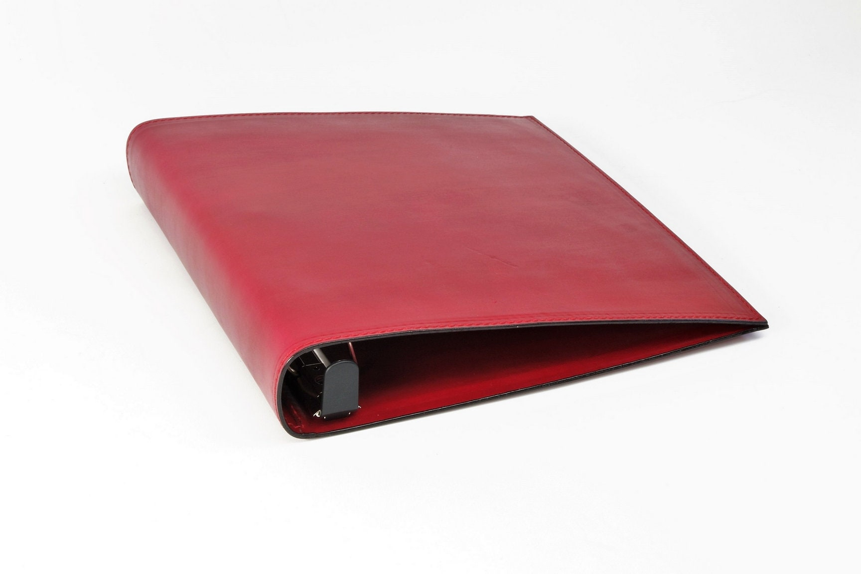 1 1 2 inch leather 3 ring binder notebook