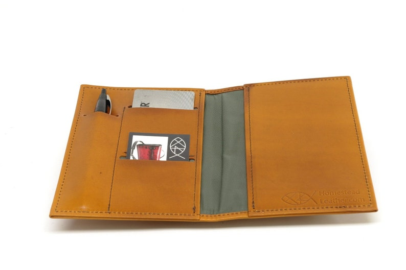 fa9cf2d17452 Leather Top Stub Checkbook Cover, with Pen and Card Slots