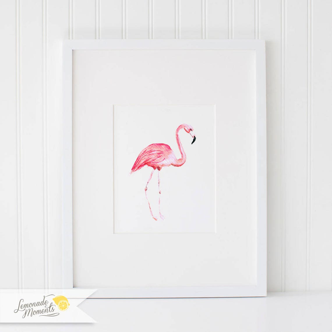 Watercolor Flamingo Print