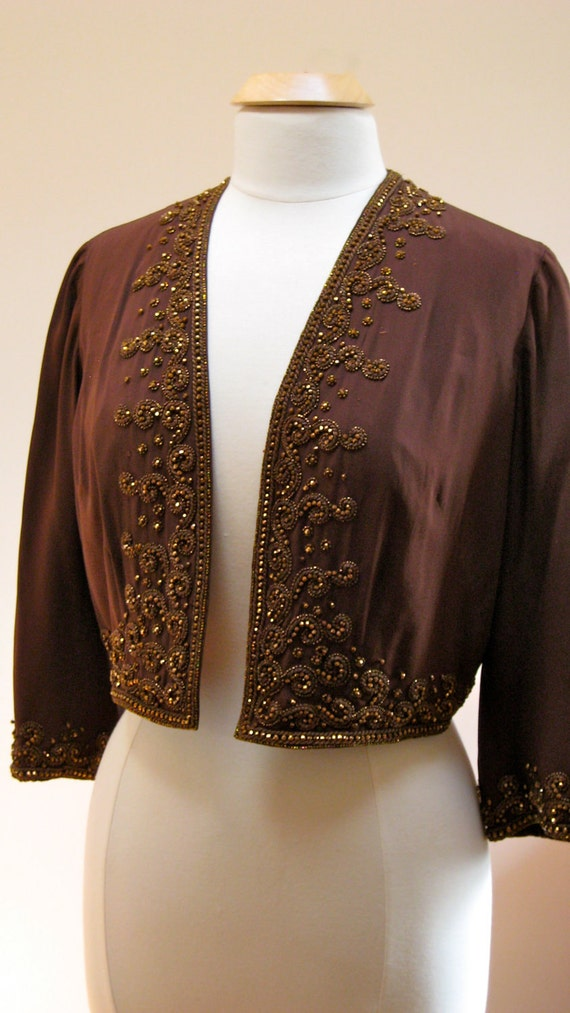 1455eb31ed Vintage Jacket Bergdorf Goodman 1950s Beaded great for Evening