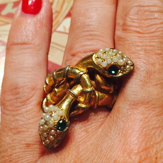 Large Ring Snake Costume jewelry