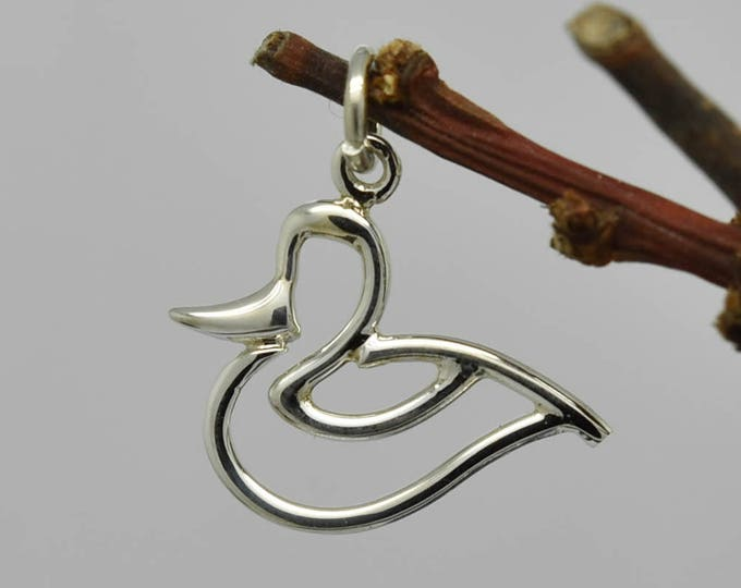 Duck Necklace, Duck Pendant, 925 Sterling Silver Pendant, Kids jewelry, Bridesmaid gift, Bridesmaid jewelry