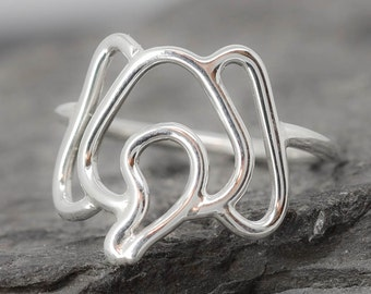 Elephant Ring, 925 sterling silver, animal ring, Elephant jewelry, kids ring, kids jewelry