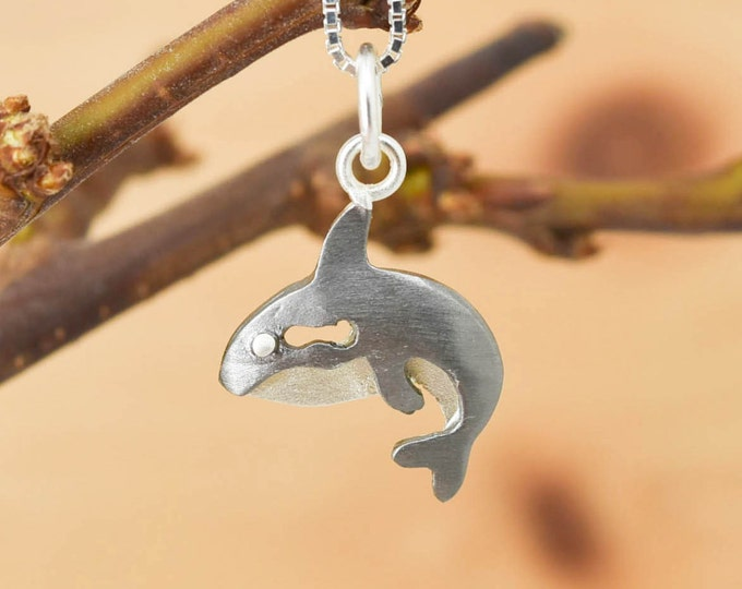 Whale Pendant, Whale Necklace, Whale Jewelry, Whale Charm, 925 Sterling Silver, Bridesmaid Gift, Best Friend Gift,  Gift for her