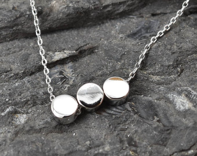 Circle Necklace, Circle Pendant, Circle Jewelry, 925 Sterling Silver, Crystal Necklace Pendant, Bridesmaid Gift, Bridesmaid Necklace