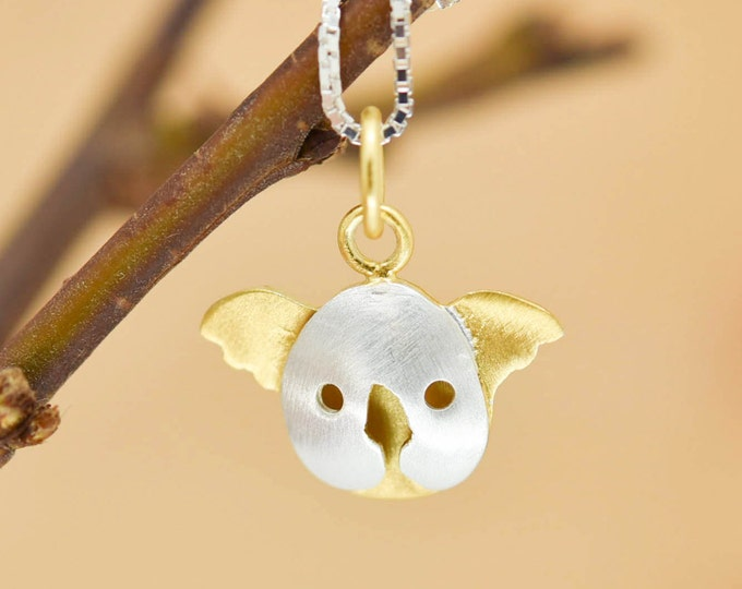 Koala Pendant, Koala Necklace, Koala Jewelry, Koala Charm, 925 Sterling Silver, Bridesmaid Gift, Best Friend Gift,  Gift for her