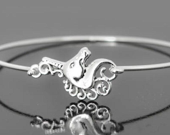 Unicorn Bangle, Sterling Silver Bangle, Unicorn Bracelet, Stackable Bangle, Charm, Bridesmaid Bangle, Bridesmaid jewelry, Bridal Bracelet