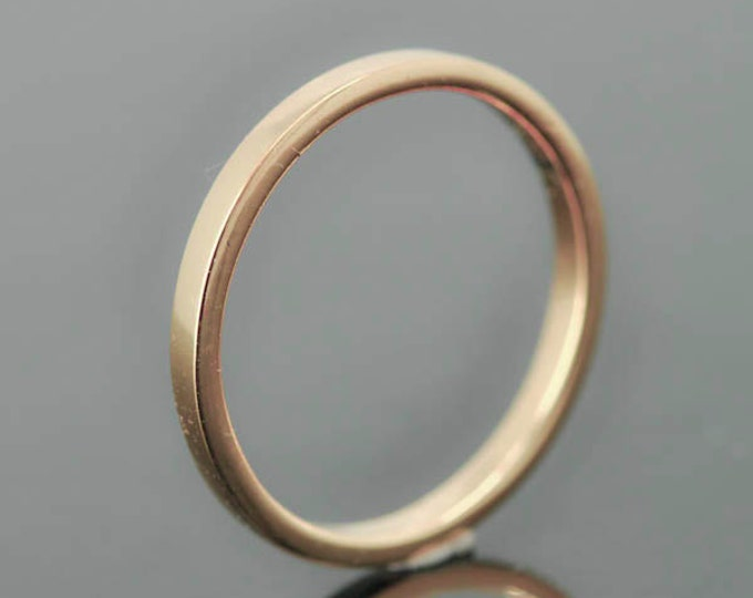 14K rose gold ring, 1mm x 1mm, wedding band, wedding ring, half round, mens wedding ring, mens wedding band, size up to 12