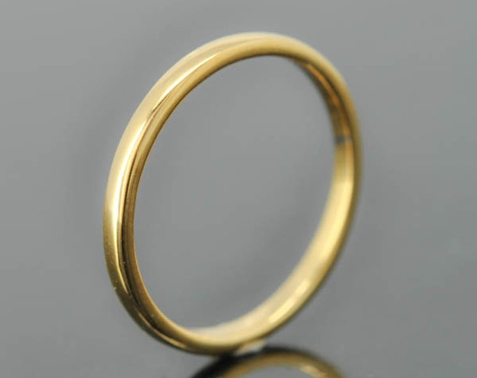 14K yellow gold ring, 1mm x 1mm, wedding band, wedding ring, half round, mens wedding ring, mens wedding band, size up to 6