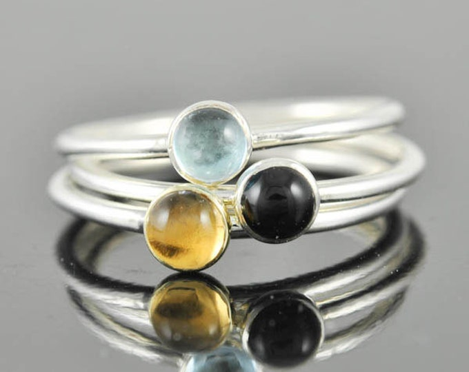 Black onyx ring, gemstone ring, stacking ring, july birthstone ring, personalized ring, bridesmaid ring, bridesmaid gift, best friends ring