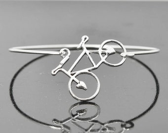 Bicycle Bangle, Sterling Silver Bangle, Bicycle Bracelet, Stackable Bangle, Charm Bangle, Bridesmaid Bangle, Bridesmaid jewelry, Bridal