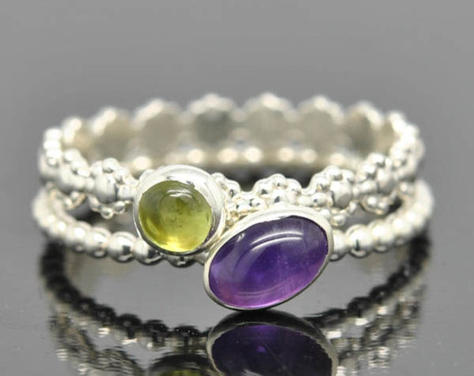 Peridot ring, gemstone ring, stacking ring, August, birthstone ring, personalized ring, bridesmaid ring, bridesmaid gift, best friends ring