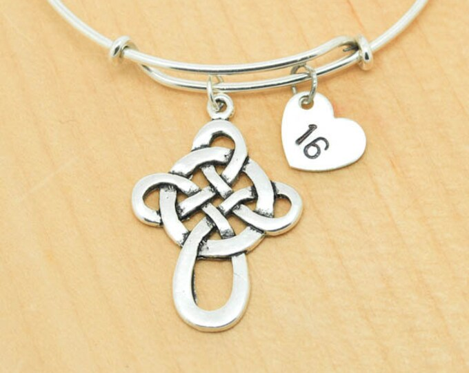 Knot Bangle, Sterling Silver Bangle, Knot Bracelet, Bridesmaid Gift, Personalized Bracelet, Charm Bangle, Initial Bracelet, Monogram