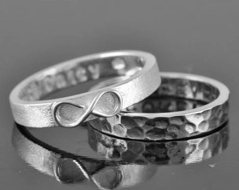 mens wedding band, infinity ring, infinity knot ring, sterling silver ring, promise ring,personalized ring, friendship ring, Bridesmaid Gift