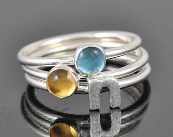 Blue Topaz ring, bridesmaid ring, bridesmaid Jewelry, wedding jewelry, stacking ring, december birthstone ring, Bridesmaid gift, Anniversary