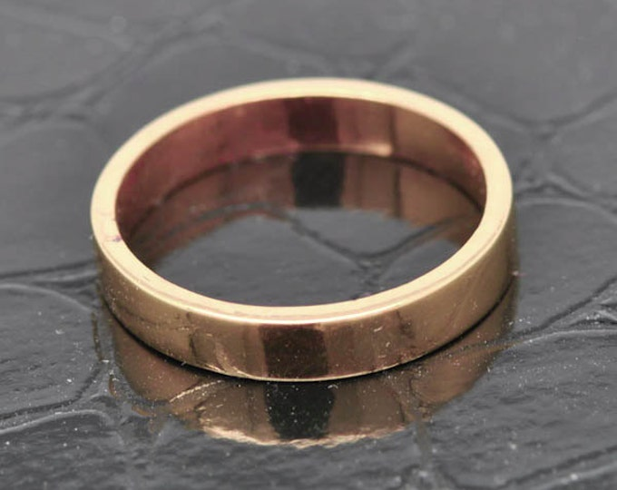 14K Rose  Gold Ring, 2mm x 1.5mm, Wedding Band, Wedding Ring, Rose Gold Band, Flat Band, Square Band, Size up to 6