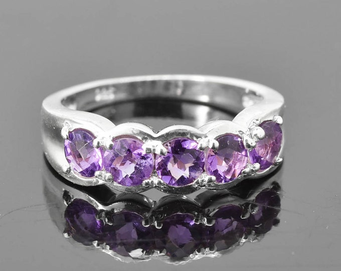 Amethyst Ring, Birthstone Ring, February, Gemstone Ring, Sterling Silver Ring, Solitaire Ring, Statement Ring