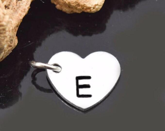 Heart Charm, Initial Charm, Monogram Charm, Bridesmaid Gift, Heart Pendant, Initial Pendant, Charm Necklace, Bridesmaid Necklace, Bridal