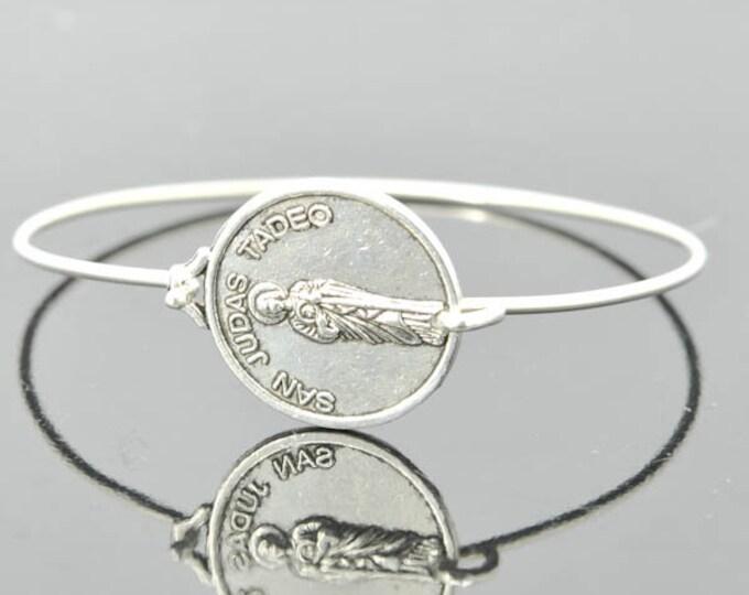 St Jude, San Judas Tadeo, Saint Jude, Religious,Charm Round Medal Shape, Christian Jewelry, Catholic Jewelry