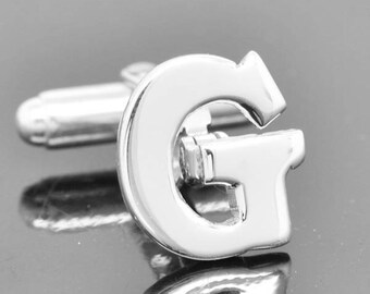 Initial G, Personalized cufflinks, Initial cufflinks, mens accessories, mens cufflinks, groomsmen gift, Gift for Father, Wedding day gift