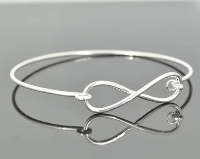 Infinity bangle, best friend, sister, forever, eternity, beyond, love, friendship, bracelet, cuff, sterling, silver, Bridesmaid Gift, Bridal