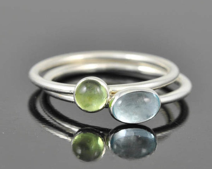 Sky blue Topaz ring, december, birthstone ring, oval, gemstone ring, birthstone ring, sterling silver ring, bezel set, stackable ring