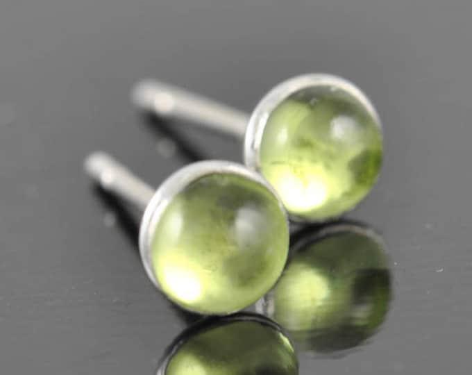 Peridot earrings, stud earrings, August birthstone earrings, bridesmaid gift, bridal, sterling silver earrings, graduation