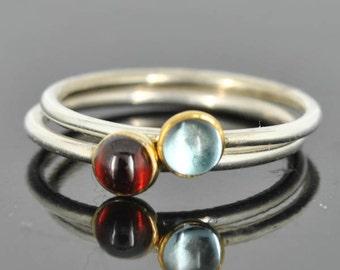 Topaz ring, Gold bezel, bridesmaid ring, bridesmaid gift, bridesmaid Jewelry, wedding jewelry, stacking ring, december birthstone ring