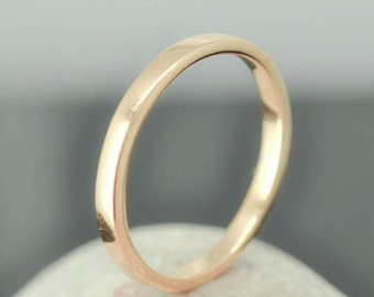 14K Rose Gold Ring, 1.5mm x 1.5mm, Wedding Band, Wedding Ring, Yellow Gold Band, Flat Band, Square Band, Size up to 6