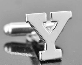 Initial Y, Personalized cufflinks, Initial cufflinks, mens accessories, mens cufflinks, groomsmen gift, Gift for Father, Wedding day gift